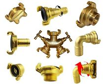 More details for solid brass geka type hosepipe claw fittings,1/2