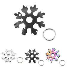 NEW 18In1 Multi-Tool Stainless Steel Snowflake Shape Flat Cross Head Screwd JI78