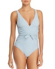NWT Shoshanna Pinstripe Tie Waist One Piece Swimsuit 6 $215 jy24