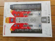 QR Queensland Rail - Travel - Spirit of Queensland cardboard locomotive - MINT