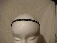 Stretch  head band/ bandeau in black with silver metal studs