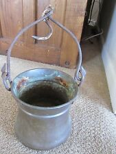Antique Copper Pot Kettle Handcrafted Dovetailed forged cast iron Primitive