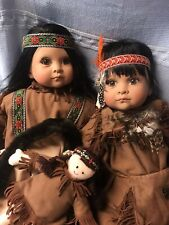 Lloyd Middleton Dolls RUNNING BROOK BY MARCI COHEN -FAUX INDIAN DOLLS