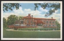 Postcard YORK Pennsylvania/PA  Golf Course Country Club House view 1920's