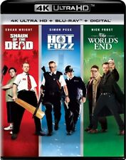 SHAUN OF THE DEAD + HOT FUZZ + THE WORLD'S END New 4K Ultra HD UHD + Blu-ray