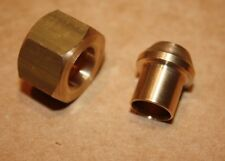 """Solder Olive/Nipple and Gland Nut for Copper Pipe 1/2""""BSP x 1/2"""" Tube"""
