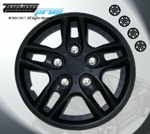 """Wheel Rims Skin Cover 15"""" Inch Matte Black Hubcap -Style 515 15 Inches Qty 4pcs-"""