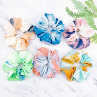 Women Scrunchies Colorful Elastic Hair RopePonytail Holder Hair Band Accessory
