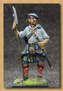 """Tin soldiers """"Renaissance """"(54 mm, 1/32) # M 14 color,Scottish warrior"""
