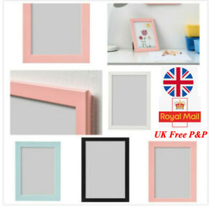 IKEA Fiskbo Photo Frame Picture Document W Black Blue Pink 10x15 13x18 21x30(A4)