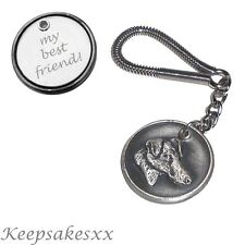 KEYRING Smooth Fox Terrier - Dog Tag UK Disc key Chain + PERSONALISED ENGRAVING