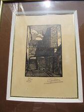 Gravure sur bois de Etienne Gaudet vieux Blois (1891-1963)