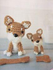 C3-CROCHET PATTERN French Bulldog & Japanese Shiba Miniature Dogs
