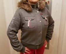 Damen Jacke Übergangsjacke Gr. L mit abnehmbarer Kapuze und Futter