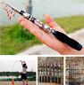 US Travel Sea Fishing Rod Carbon Fiber Telescopic Pocket Travel Fishing Rod