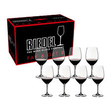 Riedel Vinum Cabernet Sauvignon/Merlot/Bordeaux Pay 6 Get 8 Glasses - Set of 8