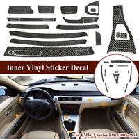 5D Reflective Carbon Fiber Inner Vinyl Sticker Decal For BMW 3 Series  b