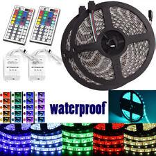 2X 5M 5050 RGB SMD 300 LED Waterproof Change Color 12V Light Strip 44 Key Remote