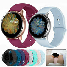 For Samsung Galaxy Watch Active 2 40 42 44mm Band Silicone Sport Bracelet Strap
