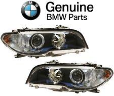 For BMW E46 Pair Set Left & Right Headlights AKL Bi-Xenon White Turn Signal OES