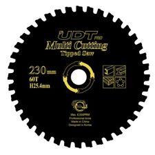 "9"" UDT Multi Cutting Tipped Saw Blade 230mm 60T Steel Wood Plastic Aluminum V_e"