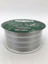 "Kirkland Christmas Ribbon: Silver Striped | 50 Yards | 150 Feet | 2.5"" Width"