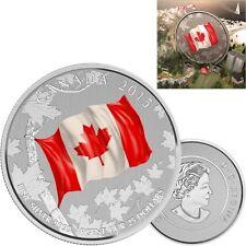 2015 Canada $25 Fine Silver Coin - Canadian Flag