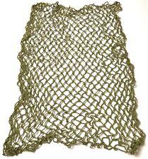WWII US ARMY OR MARINE INFANTRY & AIRBORNE M1 STEEL HELMET NET-KHAKI