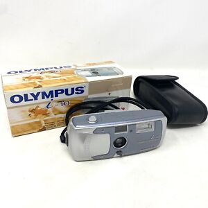 Vintage Olympus i-10 APS Film camera in box including case strap instructions