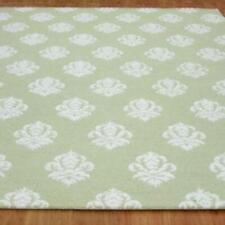 Damask Green Color Floral Loop & Cut Hand Tufted Modern Stryle Woolen Area Rug