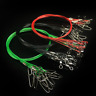 10pcs Fishing Trace Lure Leader Stainless Steel Wire Fishing Line 150LB 50CM3.5g