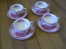 Johnson Bros. England Old Britain Castles 6oz Cup/Saucer Kenilworth Castle 1792