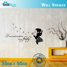 Wall Stickers Removable Cute Small Dandelion Girl Living Room Decal Art Decor