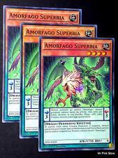 Set 3X AMORFAGO SUPERBIA Amorphage Pride SHVI-IT029 Comune in Italiano YUGIOH