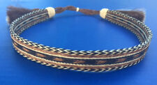 Western Decor Cowboy HAT BAND 7 Strand Brown/Black/White Horsehair W/Two Tassels