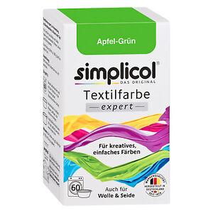 SIMPLICOL Textilfarbe EXPERT APFEL GRÜN 150g Farbe auch für Wolle & Seide