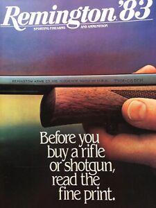 1983 Remington Firearms And Ammunition Catalog, Model 7 Bolt Action Rifle