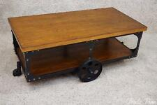 Industrial Style Coffee Table Factory Cart Coaster Furniture