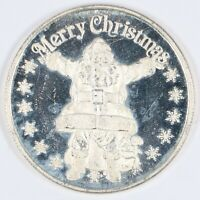 Santa Claus Merry Christmas 1 oz Silver Round .999