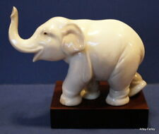 More details for adorable little lladro 'lucky elephant' c/w plinth  - perfect #8036