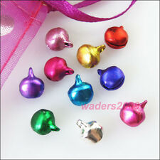 70 New Charms Aluminum Mixed Christmas Bell Pendants 8mm