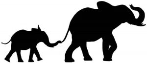 Elephant Mother and Baby Stencil