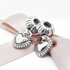 Pandora, My Special Sister S925, NEW, Pendant Charm, ( 2 Hearts), 791383