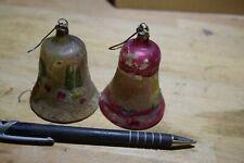ANTIQUE GERMAN MERCURY GLASS BELL ORNAMENT THREE