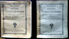 HISTOIRE DE LA NATION FRANCAISE-G. HANOTAUX -J.BRUNHES-Ed Sté Hist.Nation. 1931
