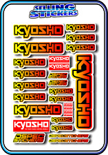 KYOSHO MODEL RC CAR DRONE BOAT BUGGY MINI Z STICKERS DECALS ROBOT R/C YEL/RED B