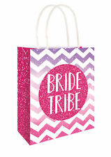 6 Bride Tribe Paper Bags - Handles Luxury Hen Party Sweet Loot Lunch Gift
