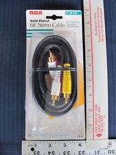 6FT RCA Stereo Audio Video Cable TV VCR DVD Gold Plated 3 Way Video Audio L & R