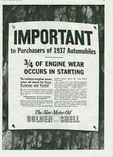 1936 NEAT SHELL OIL STATEMENT PRINT AD