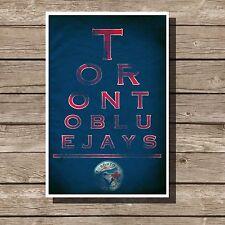 "Toronto Blue Jays Poster Sports MLB Baseball Eyechart Art Print 12x16"""